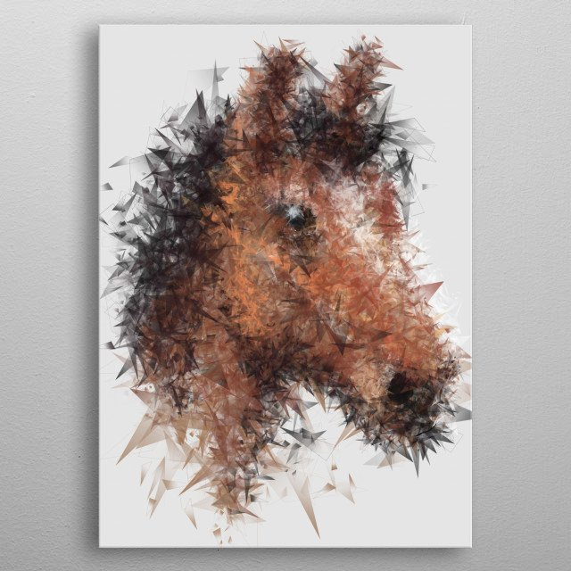 High-quality metal print from amazing Crystal Animals collection will bring unique style to your space and will show off your personality. metal poster
