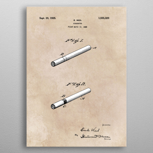 High-quality metal print from amazing Patents collection will bring unique style to your space and will show off your personality. metal poster