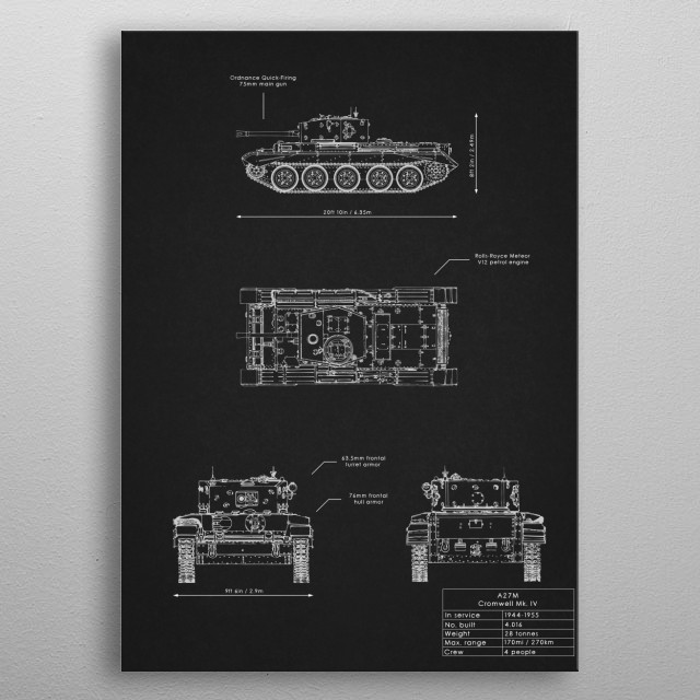 A27M Cromwell Mk. IV metal poster