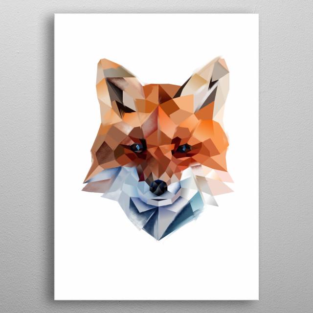 Lady Fox - modern animal collection metal poster