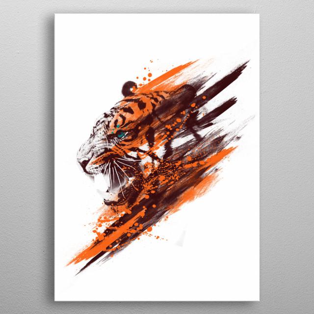 Tigra metal poster