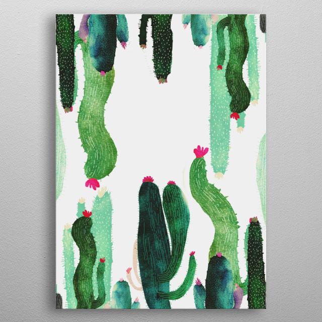 my cactus metal poster