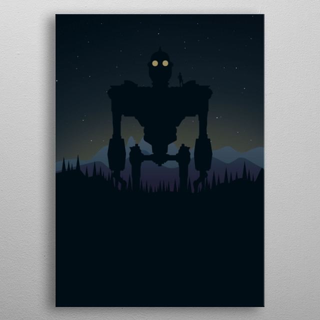 The Iron Giant Poster metal poster