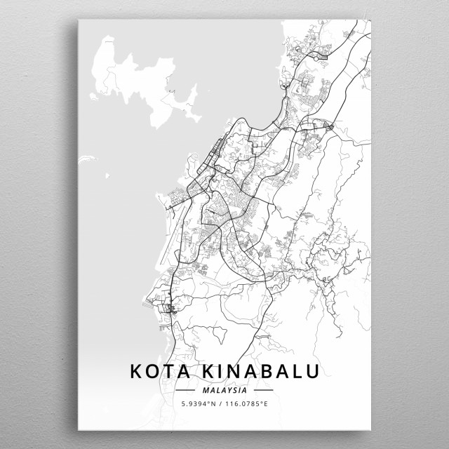 Kota Kinabalu, Malaysia metal poster