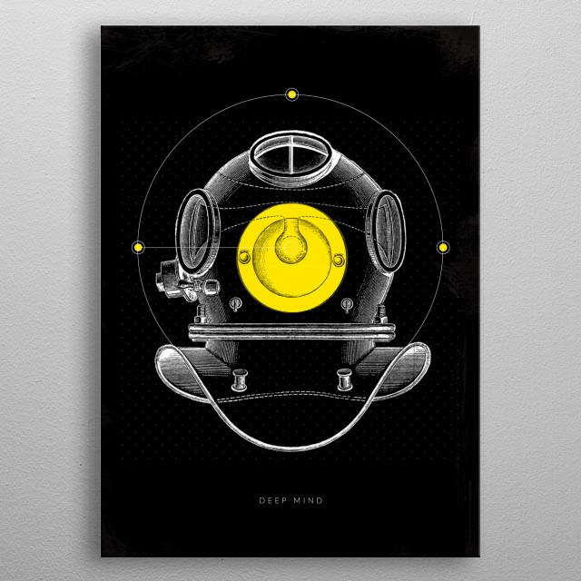Look deep into your thoughts. metal poster
