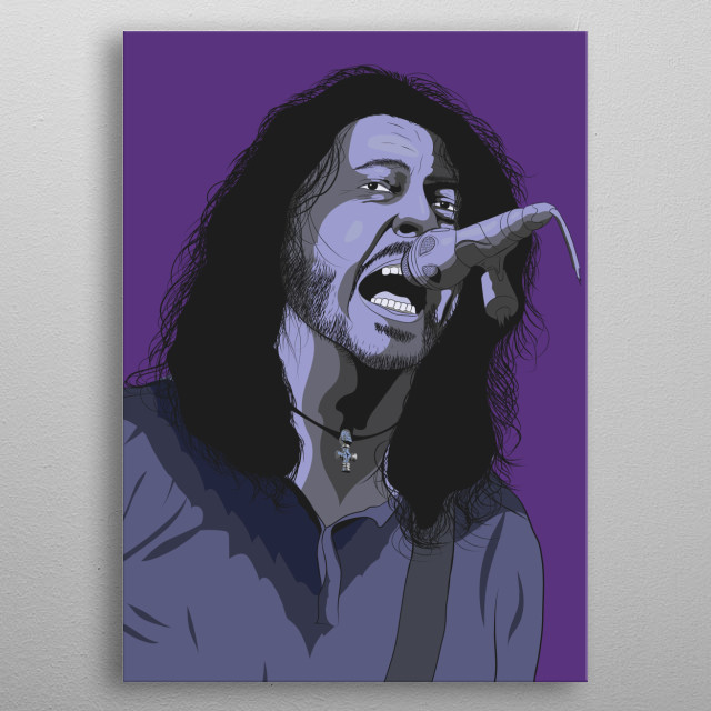 A High Quality (300 ppi) portrait of the famous rock music celebrity. Made with Adobe Illustrator metal poster