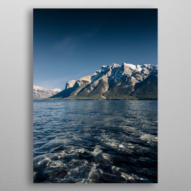 Afternoon at Lake Minnewanka, Banff, Alberta metal poster