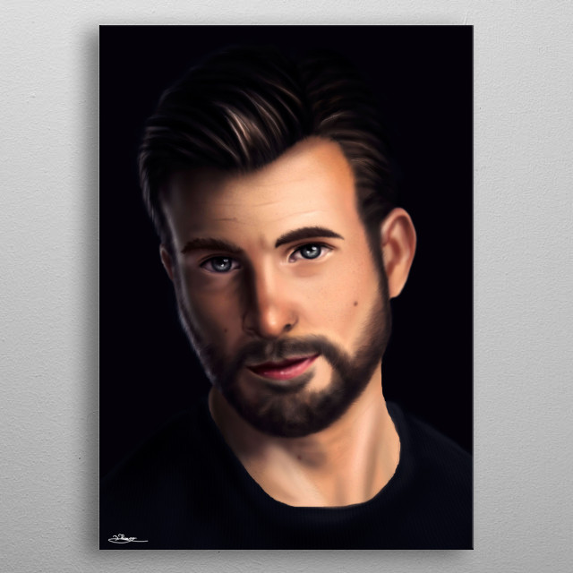 Steve Rogers from Marvel metal poster