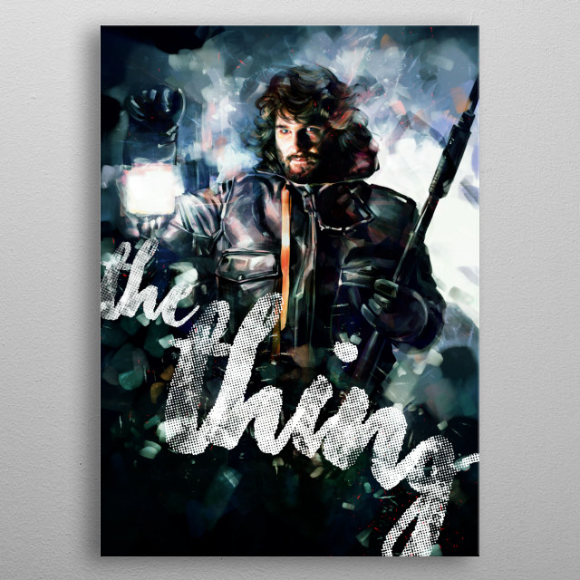 Fascinating metal poster designed by Dmitry Belov. Displate has a unique signature and hologram on the back to add authenticity to each design. metal poster