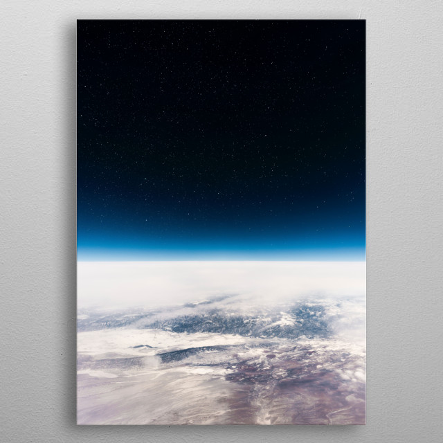 Flying at the Edge of Space.  metal poster