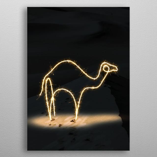 sparkling camel metal poster