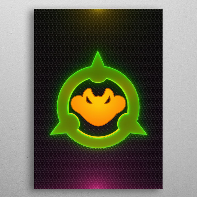 3D videogames Collection metal poster