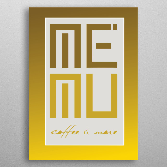 This is an illustration of a coffe shop and is maded by an albanian designer from an advertising company  It may be changed in colors and mo metal poster