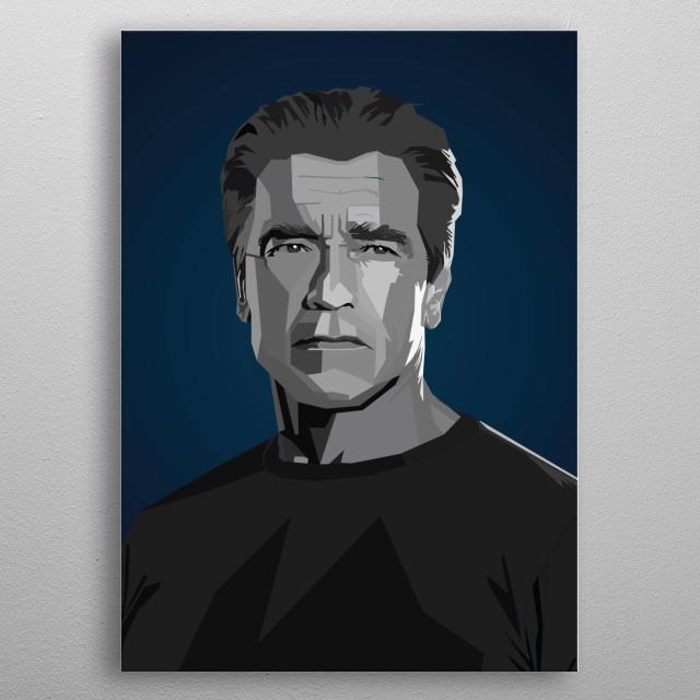 Arnold Schwarzenegger WPAP Pop Art metal poster