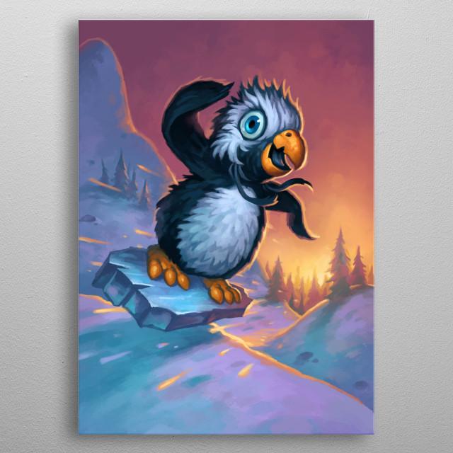 Snowflipper Penguin metal poster