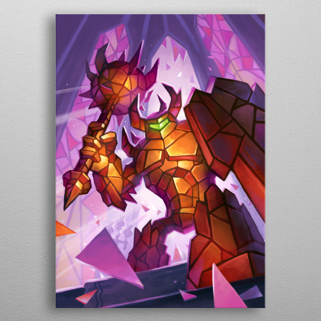 The Glass Knight metal poster