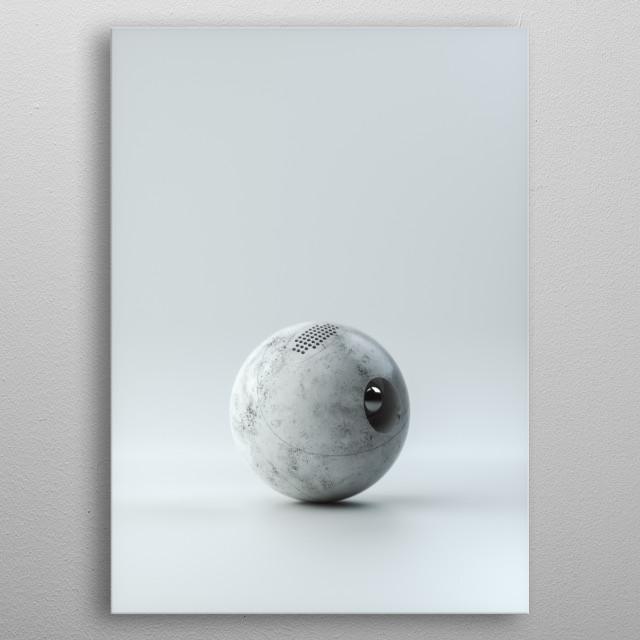 Minimal metal poster