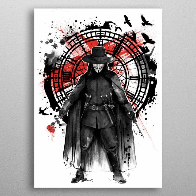 Remember the Fifth of November metal poster
