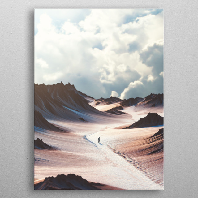 Path metal poster