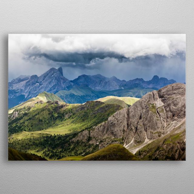 Seiser Alm, South Tyrol metal poster
