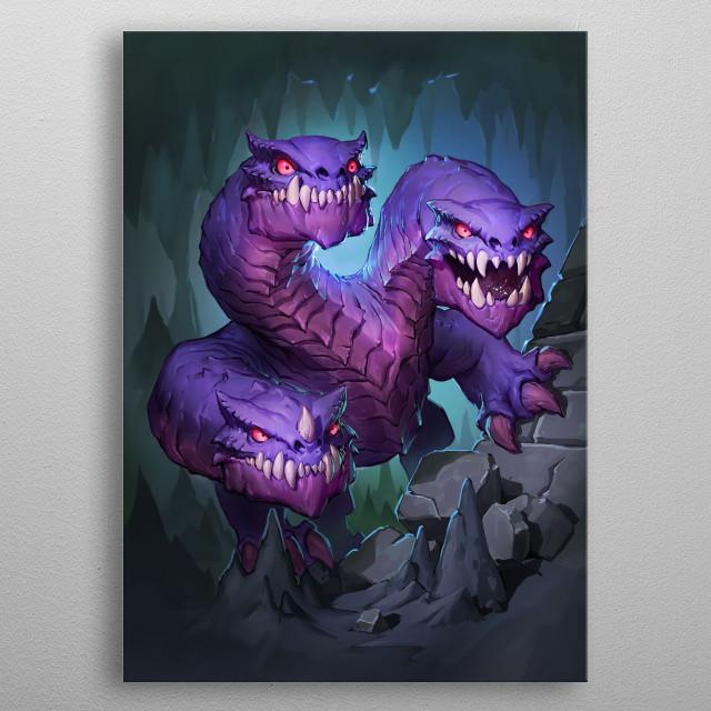 Cave Hydra metal poster