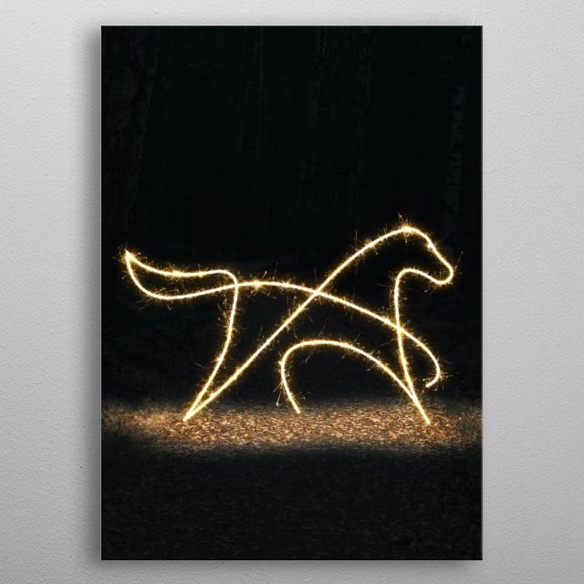sparkling horse  metal poster