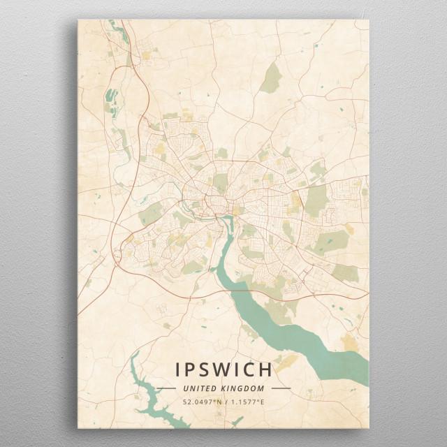 Ipswich, United Kingdom metal poster