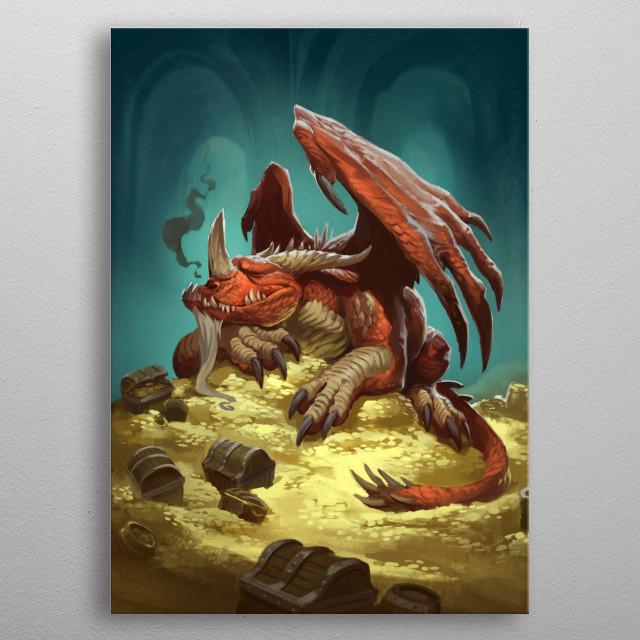 Sleepy Dragon metal poster