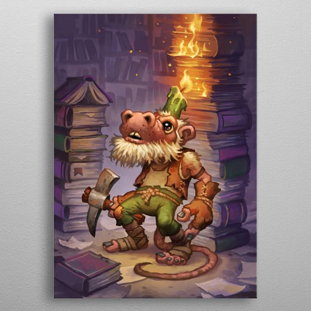 Kobold Librarian metal poster