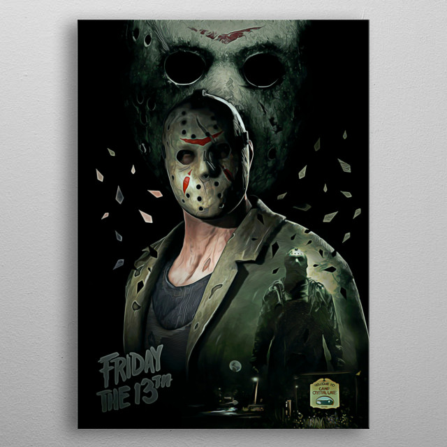 Jason Voorhees metal poster