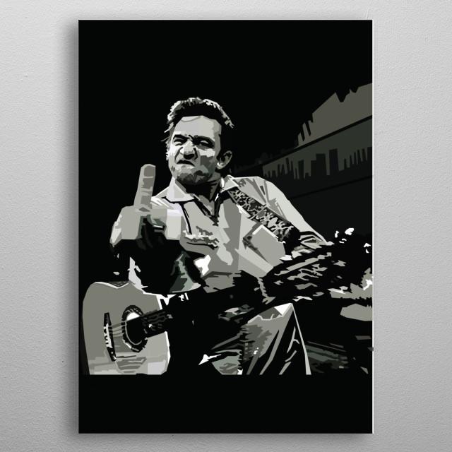 Johnny Cash WPAP Pop Art metal poster