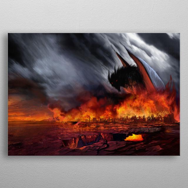 Monster metal poster