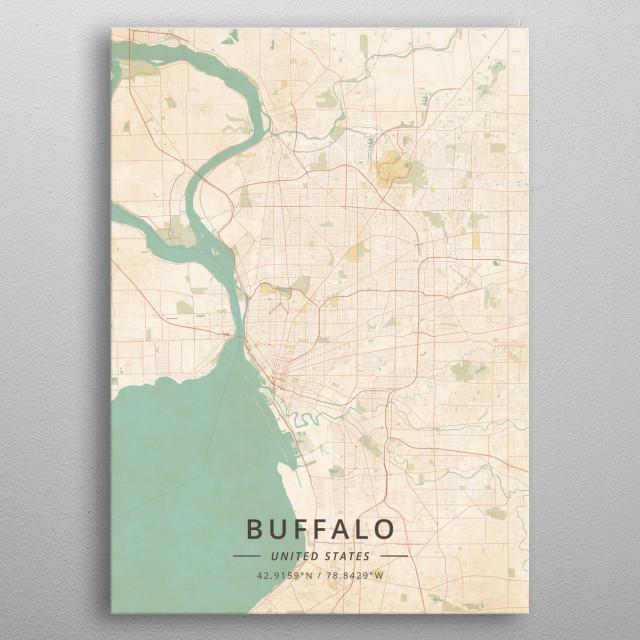 Buffalo, United States metal poster