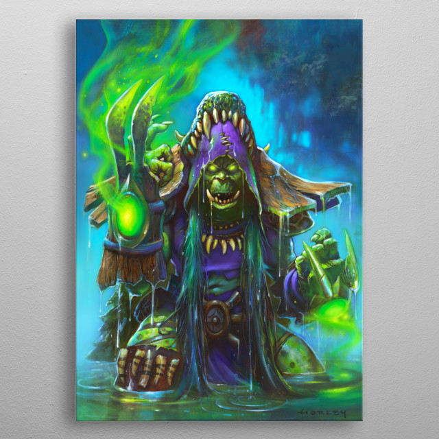 Hagatha the Witch metal poster