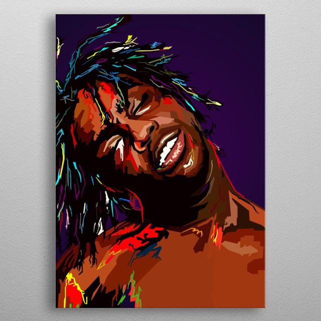 Chief Keef WPAP Pop Art metal poster