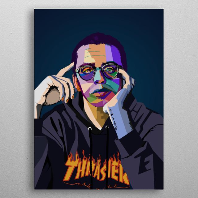 Logic Rapper WPAP Pop Art metal poster