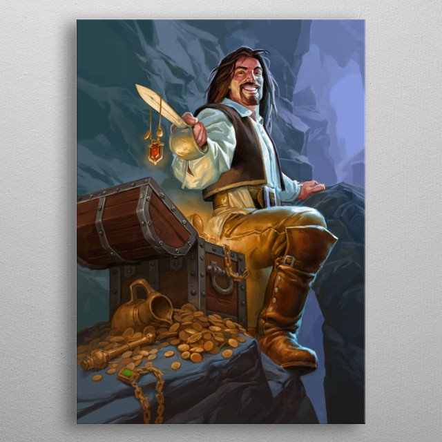 Fascinating metal poster designed by Blizzard  . Displate has a unique signature and hologram on the back to add authenticity to each design. metal poster