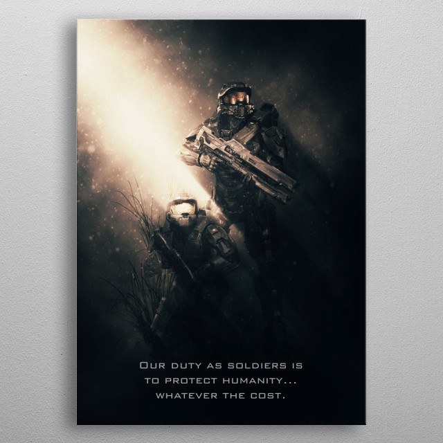 Halo Tag Team metal poster
