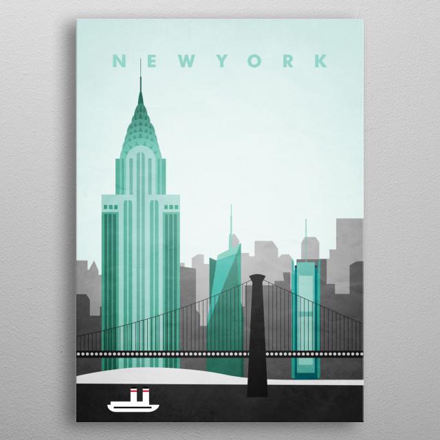 New York Travel Poster metal poster