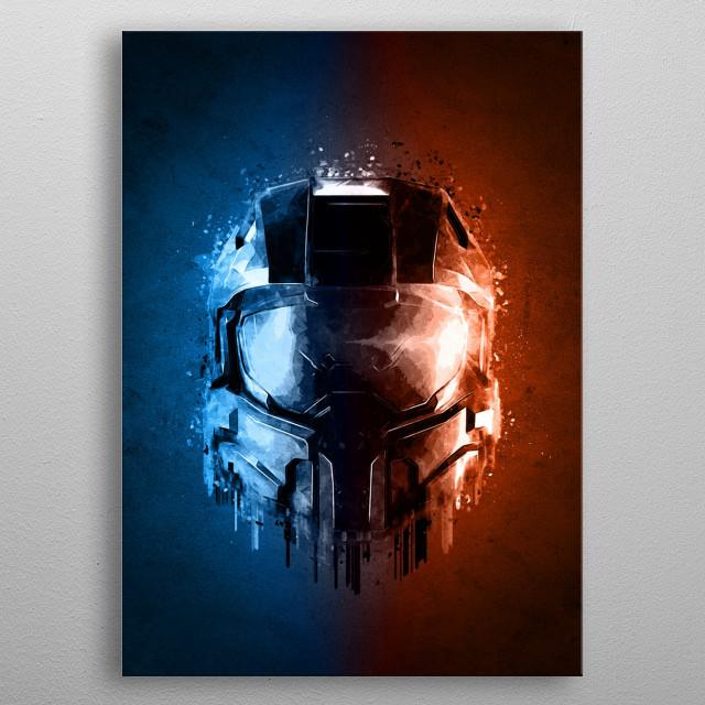 HALO Helmet 3D metal poster