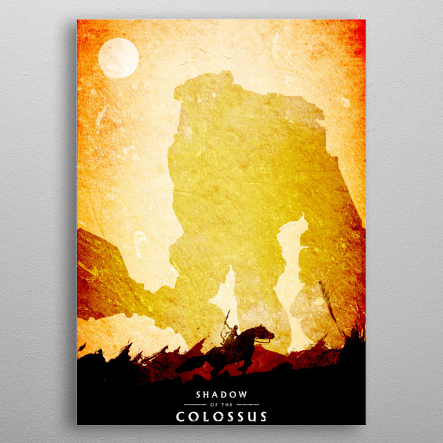 Shadow of the colossus metal poster