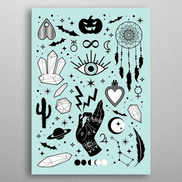 Halloween Tableu metal poster