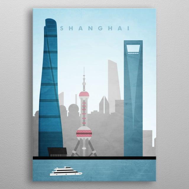 Shanghai travel Poster metal poster