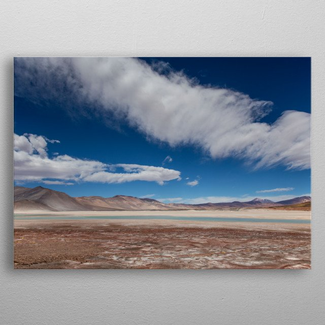 Image of the Talar Salt Flat in Chile. metal poster