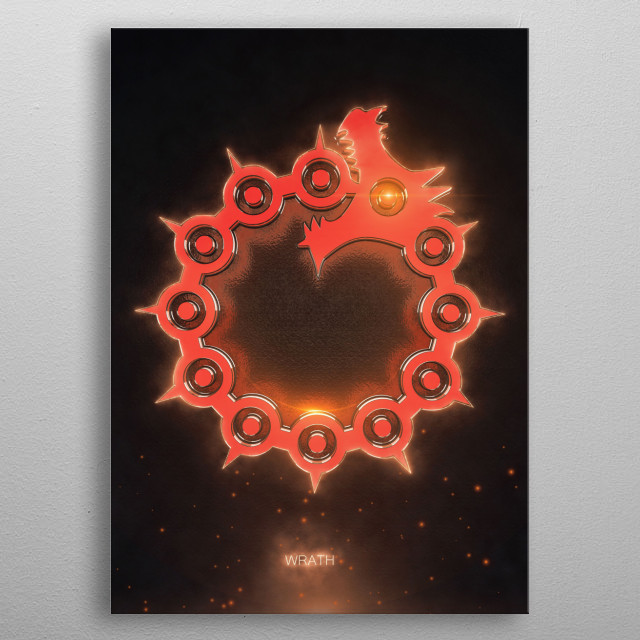 3D the seven deadly sins Emblem   metal poster