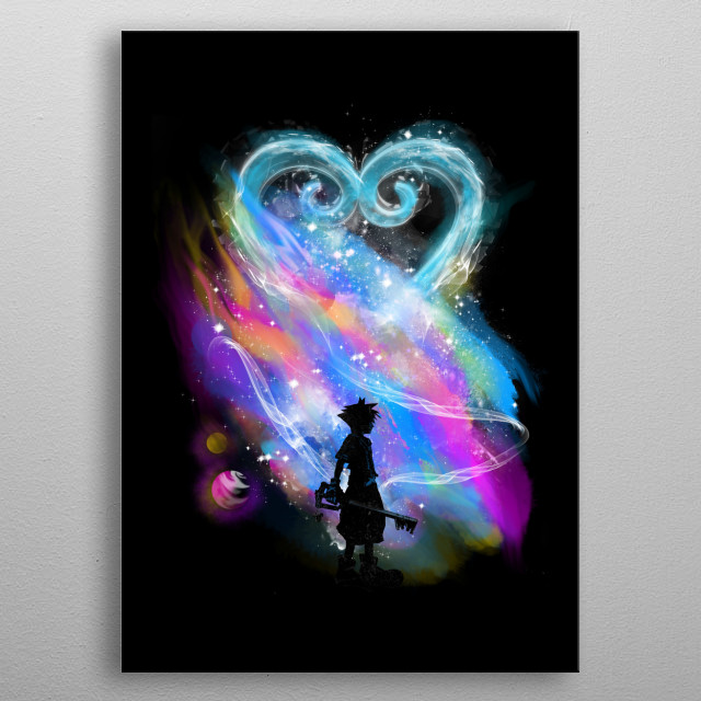 sora on a path to stars metal poster