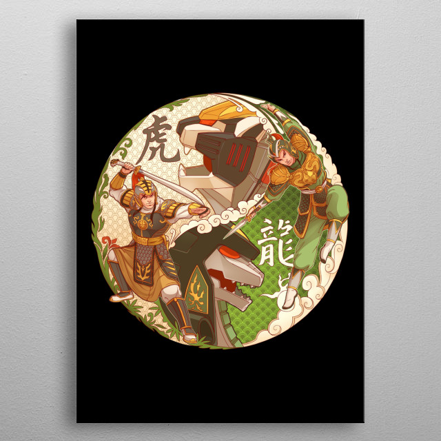 Inspired by ancient Chinese warrior suits. metal poster