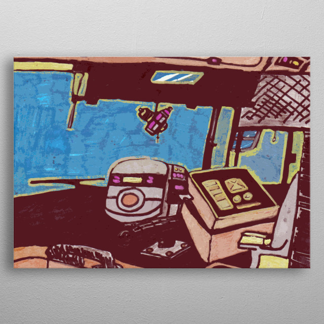 Hail to the bus driver : I did this illustation for all the bus drivers  out  their .  metal poster