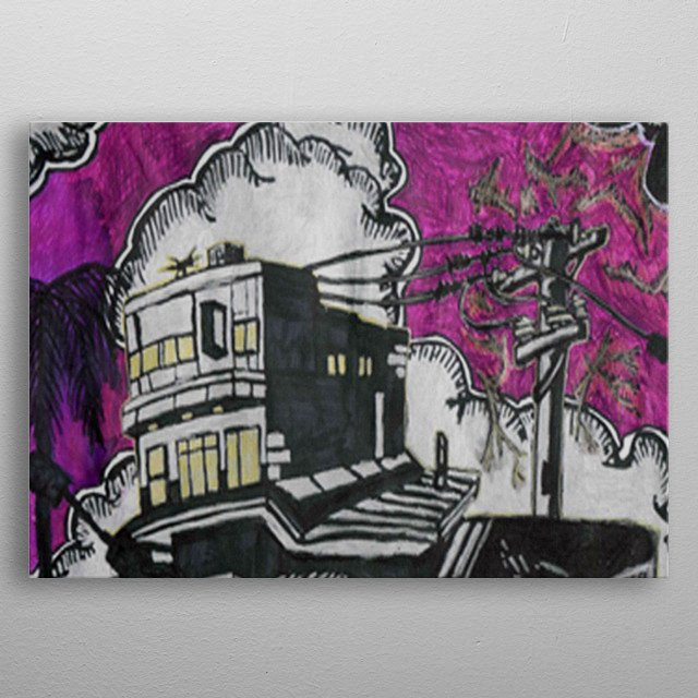 Blowen Transforma : Was illustrated what would happend if i put a blowen transforma into the work. metal poster