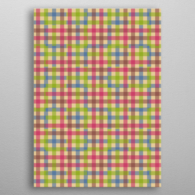Inspired by a scrambled gingham pattern. metal poster